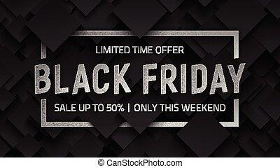 Black Friday Sale Vector Background