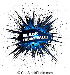 Black Friday sale vector explosion with particles