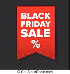 Black Friday Sale vector label