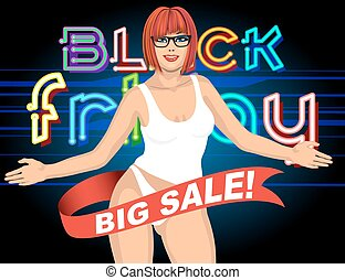 Black friday Sale welcome invitation