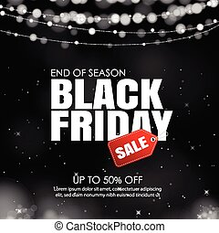 black friday sale with lights bokeh background