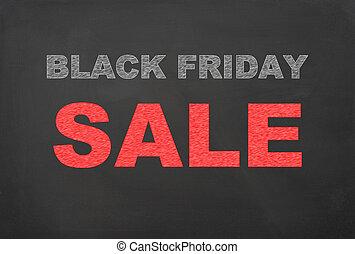 Black Friday Sale written on chalkboard