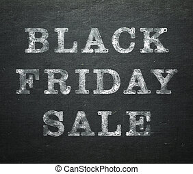 Black Friday Sale written on dark chalkboard