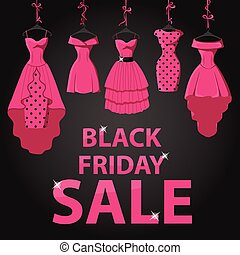Black friday Sale.Pink party dresses,title