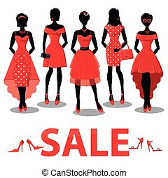 Black friday Sale.Red party dresses,accessories
