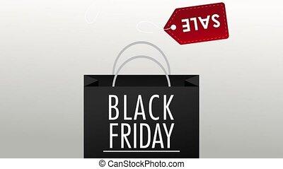 Black friday sales HD animation