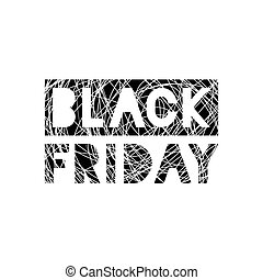 Black Friday scribble grunge stamp on white background,...