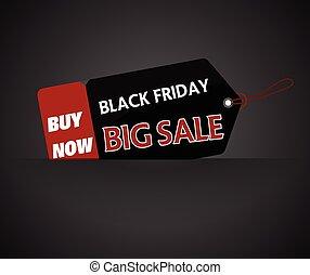 Black Friday shopping bag and sales