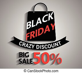 Black Friday shopping bag and sales