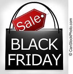 Black Friday Shopping Bag Design - Black Friday Shopping Bag