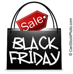 Black Friday Shopping Bag Design - Black Friday Shopping Bag