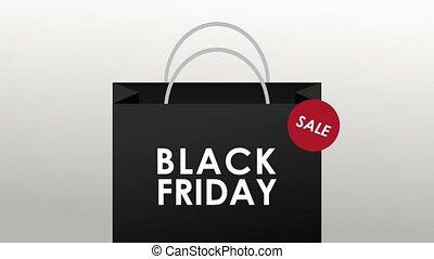 Black friday shopping bag HD animation