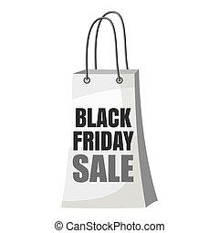 Black Friday shopping bag icon