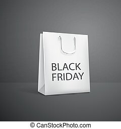 Black Friday Shopping bag. sale promotion poster