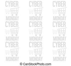 Black Friday Shopping Cart Background