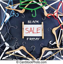 Black Friday shopping sale concept. Big sale word on black background.