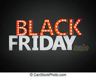 Black friday sign. 3d rendering