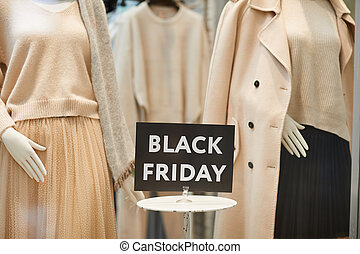 Black Friday Sign in Store Window