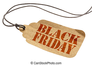 Black Friday sign on paper price tag