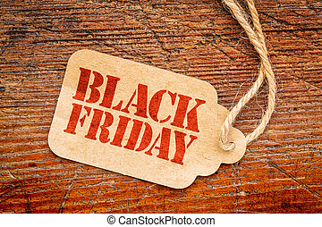 Black Friday sign on price tag - Black Friday sign a paper ...