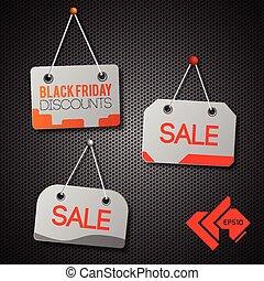 Black Friday Signs Set