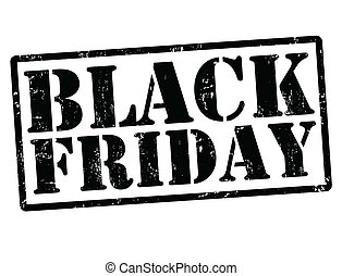 Black friday stamp - Black friday grunge rubber stamps on...