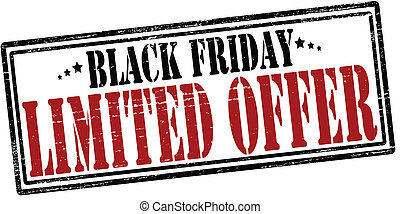 Stamp with text black Friday inside, vector illustration