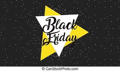 black friday sticker on starry background black friday...