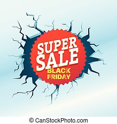 Black Friday Super Sale. Shopping special offer template