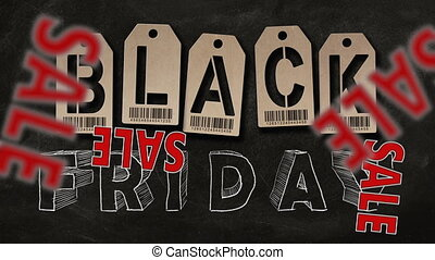 """Black Friday - Text """"SALE"""" falling down on background of..."""