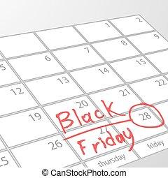 Black Friday to mark the calendar