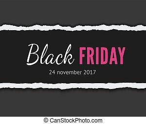 Black friday vector banner