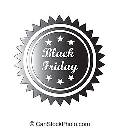 black friday - a black icon with white text for black friday