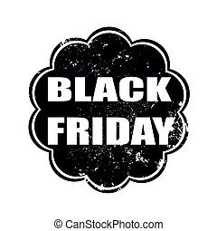 black friday grunge stamp on whit vector illustration