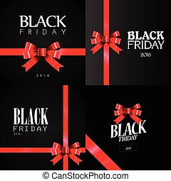 Black Friday - Set of black friday banners, Vector...
