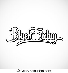 Black Friday Vector Hand Lettering Illustration. Isolated