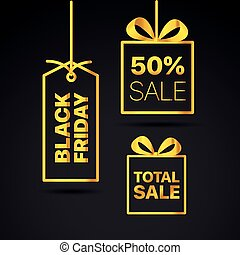 Black Friday Vector Labels set. Black friday sale vector clipart