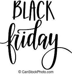 Black friday vector lettering design for poromo posters