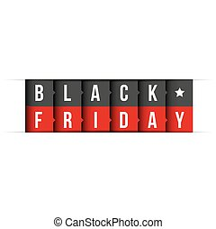 Black Friday vector lettering