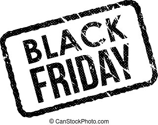 Black Friday vintage grunge rubber stamp on white background, vector