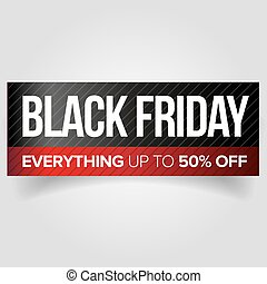 Black Friday web banner vector