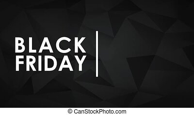 Black friday with shopping cart HD animation