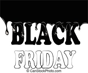 Black friday with smudges on a white background