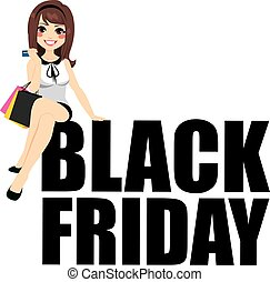 Black Friday Woman Text