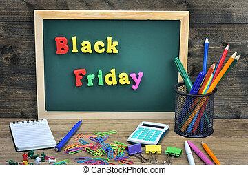 Black Friday word