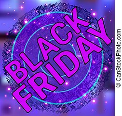 Black Friday Wordcloud. Text cloud. Typography concept. Vector illustration.