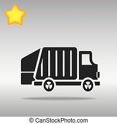 black garbage truck Icon button logo symbol concept high quality