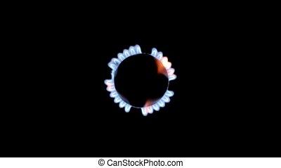 black , gas, achtergrond, vlammen