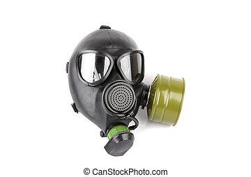 gas mask - black gas mask isolated over white background
