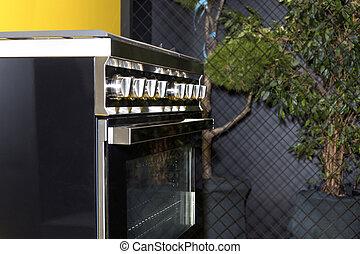 black gas stove